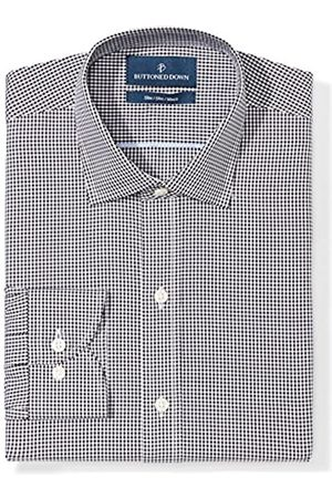 """Buttoned Down Slim Fit Spread Collar Pattern Camicia, , 15"""" Neck 35"""" Sleeve"""