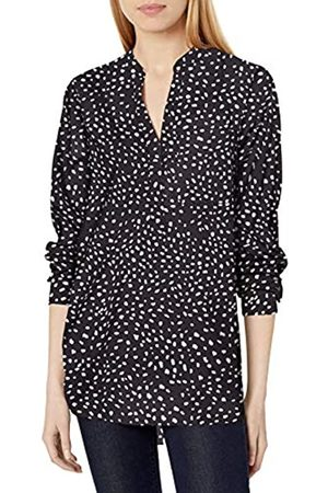 Daily Ritual Georgette Henley - Tunica Shirts, Stampa Dalmata / , US XXL