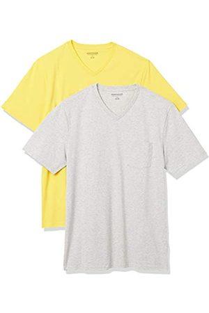 Amazon Uomo Polo - 2-Pack Slim-Fit V-Neck Pocket T-Shirt Fashion-t-Shirts, / Chiaro, US XXL