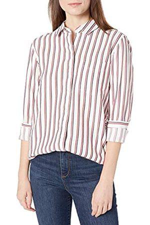 Goodthreads Seersucker Long-Sleeve Button-Front Tunic Shirt Shirts, / /Navy Stripe, S