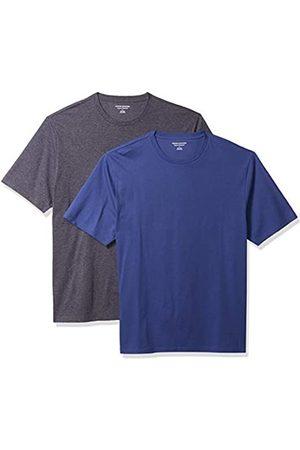 Amazon Set Composto da 2 Magliette a Girocollo a Maniche Corte Fashion-t-Shirts, /Carbone Heather, US M