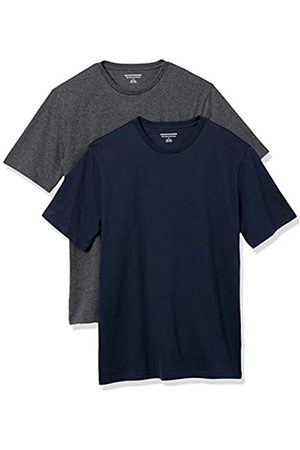 Amazon 2-Pack Slim-Fit Crewneck T-Shirt Fashion-t-Shirts, Dark Navy/Charcoal Heather Grey, US