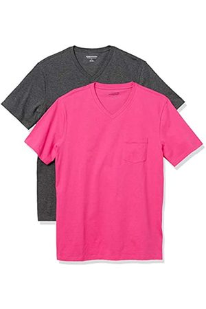 Amazon 2-Pack Slim-Fit V-Neck Pocket T-Shirt Fashion-t-Shirts, Acceso/ Antracite, US XXL