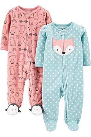 Simple Joys by Carter's Confezione da 2 Tasche in Pile con Cerniera A 2 Vie, per Dormire E Giocare. Infant-And-Toddler-Bodysuit-Footies, Volpe/Animale , US NB