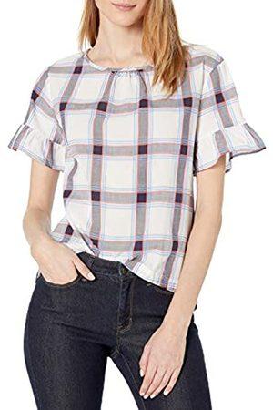 Goodthreads T-Shirt in Cotone Dobby con Maniche Flutter Shirts, / /Corallo Open Plaid, US XXL
