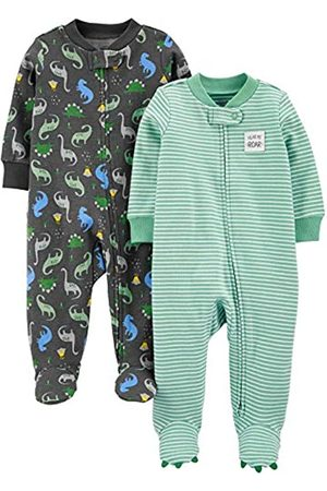 Simple Joys by Carter's Confezione da 2 Zip A 2 Vie in Cotone per Dormire E Giocare. Infant-And-Toddler-Sleepers, Stampa Dinosauri, 0-3 Months