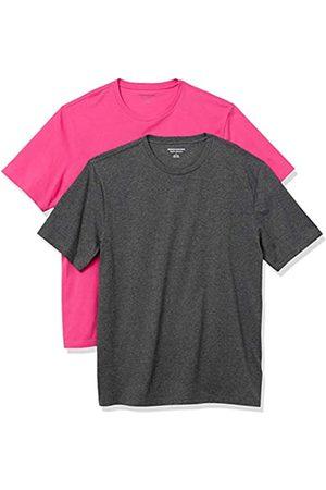 Amazon Set Composto da 2 Magliette a Girocollo a Maniche Corte Fashion-t-Shirts, Acceso/ Antracite, US L