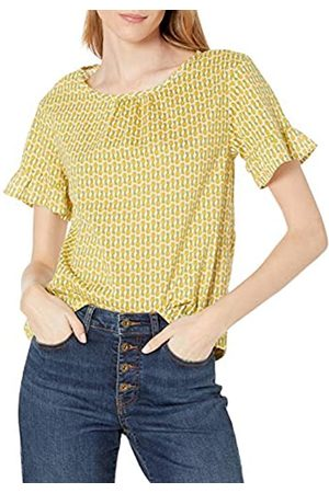 Goodthreads T-Shirt in Cotone Dobby con Maniche Flutter Shirts, Stampa con Ananas, US XXL