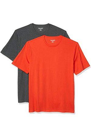 Amazon Set Composto da 2 Magliette a Girocollo a Maniche Corte Fashion-t-Shirts, / Carbone Heather, US S