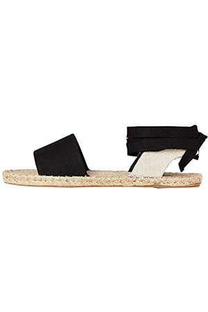 FIND Donna Espadrillas - FIND Tie Up Flat Espadrille Espadrillas, Nero , 40 EU