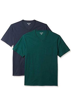 Amazon 2-Pack Slim-Fit V-Neck Pocket T-Shirt Fashion-t-Shirts, Scuro/ Scuro, US S