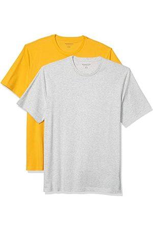 Amazon Set Composto da 2 Magliette a Girocollo a Maniche Corte Fashion-t-Shirts, Mango/ Chiaro, US L