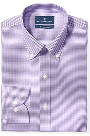 """Buttoned Down Slim Fit Button Collar Pattern Camicia, , 17.5"""" Neck 36"""" Sleeve"""