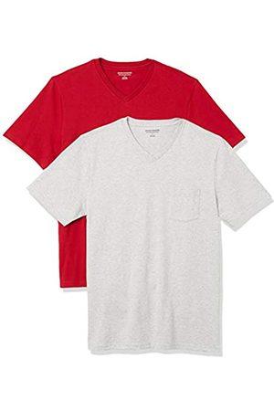 Amazon 2-Pack Slim-Fit V-Neck Pocket T-Shirt Fashion-t-Shirts, Colore: / Erica Chiaro, US