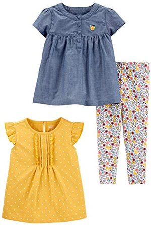Simple Joys by Carter's Set da Gioco 3 Pezzi. Infant-And-Toddler-Pants-Clothing-Sets, Chambray/Pois, US 4T