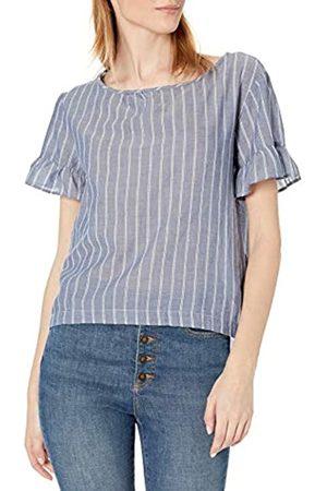 Goodthreads T-Shirt in Cotone Dobby con Maniche Flutter Shirts, Indigo/ Doppia Striscia, US XL
