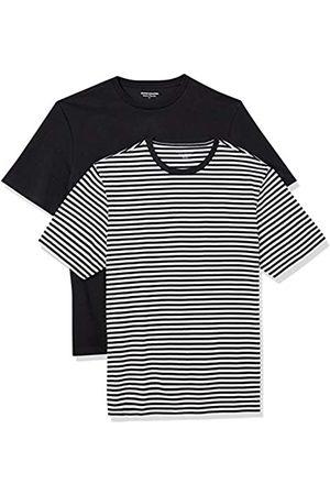 Amazon Set Composto da 2 Magliette a Girocollo a Maniche Corte Fashion-t-Shirts, - Striscia/ , US