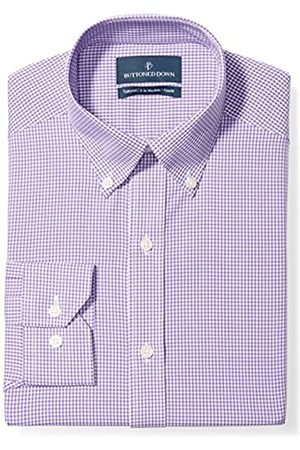 """Buttoned Down Tailored Fit Button-Collar Pattern Non-Iron Dress Shirt Camicia, , 17"""" Neck 37"""" Sleeve"""