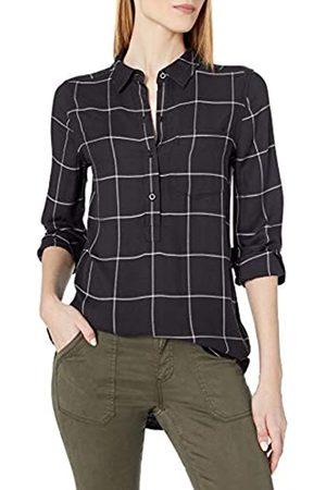 Daily Ritual Amazon Brand - Women's Soft Rayon Slub Twill Long-Sleeve Popover Tunic, , X-Small