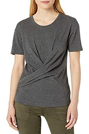 Daily Ritual Cotone Modal Stretch Slub Manica Corta Wrap T-Shirt Athletic-Shirts, Carbone, US XL