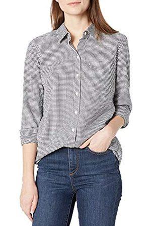 Goodthreads Seersucker Long-Sleeve Button-Front Tunic Shirt Shirts, Gingham e , XL