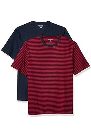 Amazon Set Composto da 2 Magliette a Girocollo a Maniche Corte Fashion-t-Shirts, - a Righe/Navy, US M
