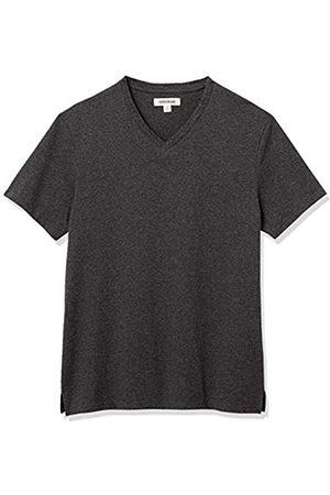 Goodthreads Heavyweight Oversized Short-Sleeve V-Neck T-Shirt Novelty-t-Shirts, Antracite Melange, XXL