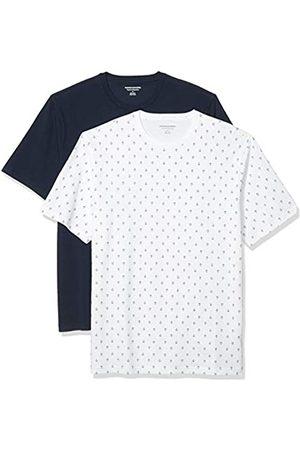Amazon Set Composto da 2 Magliette a Girocollo a Maniche Corte Fashion-t-Shirts, Ancora/ Marino, US L