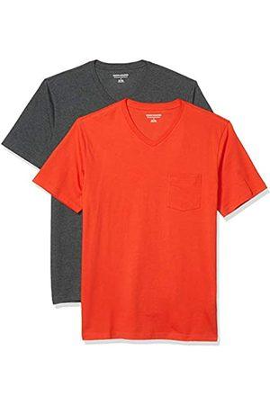 Amazon 2-Pack Slim-Fit V-Neck Pocket T-Shirt Fashion-t-Shirts, / Carbone Heather, US L