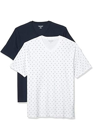 Amazon 2-Pack Loose-Fit V-Neck T-Shirt Fashion-t-Shirts, Anchor/Navy, US