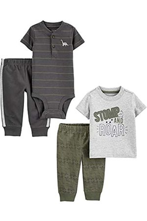 Simple Joys by Carter's Set Completo Composto da 4 Pezzi, Top e Pantaloni. Infant-And-Toddler-Pants-Clothing-Sets, Dinosauri, 18 Months