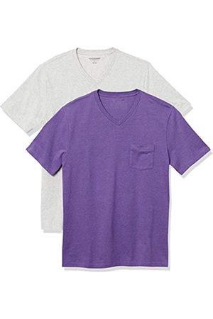 Amazon 2-Pack Slim-Fit V-Neck Pocket T-Shirt Fashion-t-Shirts, Erica/ Chiaro, US M