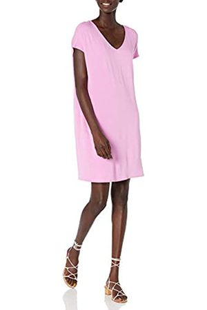 Daily Ritual Supersoft Terry Dolman-Sleeve V-Neck Dress Dresses, Peony Pink, US S
