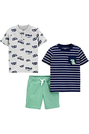Simple Joys by Carter's Set da Gioco 3 Pezzi. Infant-And-Toddler-Pants-Clothing-Sets, Dinosauro/Camion, 12 Months