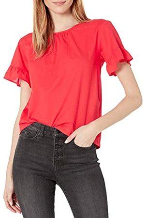 Goodthreads T-Shirt in Cotone Dobby con Maniche Flutter Shirts, Papavero, US L