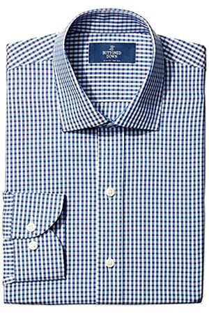 Buttoned Down Slim Fit Pattern Camicia, , 14.5 34