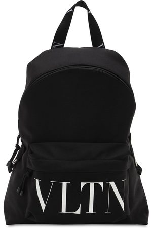 VALENTINO GARAVANI Zaino In Nylon Con Stampa Logo