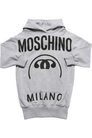 Moschino Abito In Felpa Di Cotone Con Cappuccio