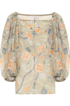 Chloé Blusa a stampa floreale in ramia