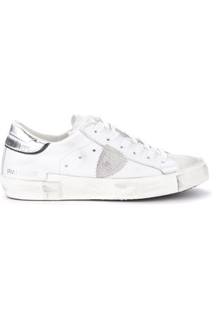 Philippe model Sneaker Paris X in pelle bianca con spoiler