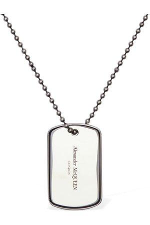 Alexander McQueen Uomo Collane - Collana Con Placchetta Logo