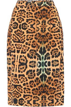 DRIES VAN NOTEN Gonna a stampa leopardo in misto cotone