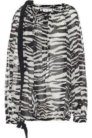 DRIES VAN NOTEN Blusa a stampa zebra in cotone