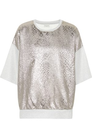 DRIES VAN NOTEN T-shirt in lamé