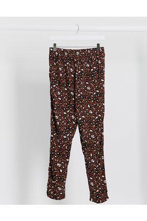 ASOS Pantaloni in jersey con pinces e stampa animalier