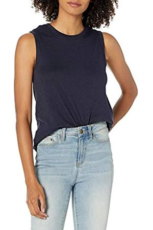 Daily Ritual Cotton Modal Stretch Slub Muscle-Sleeve Swing Tunic Athletic-Shirts, , US L