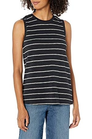 Daily Ritual Cotton Modal Stretch Slub Muscle-Sleeve Swing Tunic Shirts, , US M