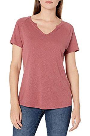 Goodthreads Lino Modal Jersey Manica Corta Maglia Slit-Neck Fashion-t-Shirts, Scura, M