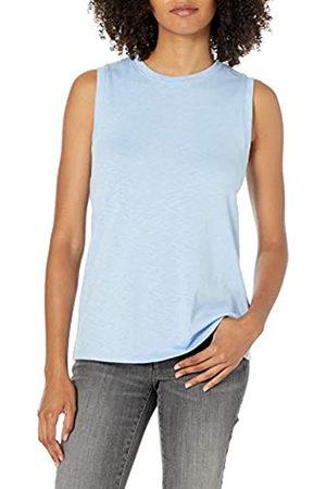 Daily Ritual Cotton Modal Stretch Slub Muscle-Sleeve Swing Tunic Athletic-Shirts, , US S