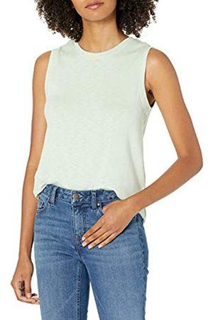 Daily Ritual Cotton Modal Stretch Slub Muscle-Sleeve Swing Tunic Shirts, , US L